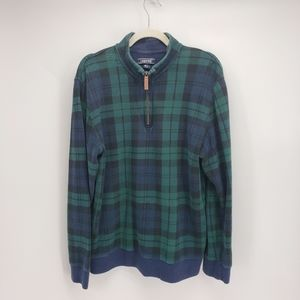 Land's End | 1/4 Zip Sweater | Plaid